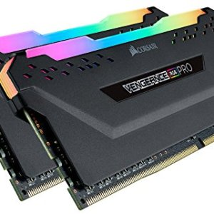 Corsair Vengeance RGB Pro 32GB (2x16GB) DDR4 3200 (PC4-25600) C16 Desktop Memory – Black