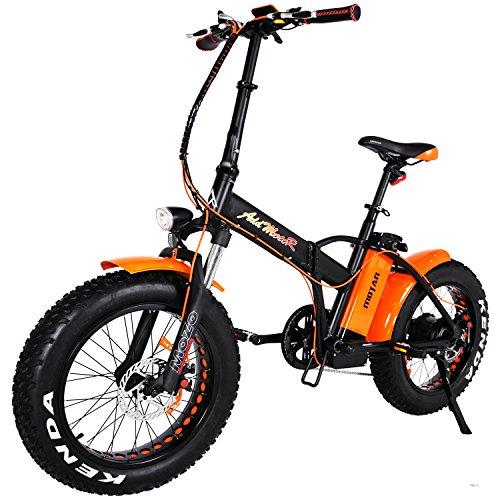 Addmotor MOTAN Electric Bikes Folding 750W 20Inch Fat Tire Electric Bicycle 48V 11.6AH Lithium Battery Mountain Snow Beach M-150 Platinum E-bike 2018(Orange)