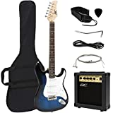 Best Choice Products 39in Full Size Beginner Electric Guitar Starter Kit w/ Case, Strap, 10W Amp, Tremolo Bar - Blue