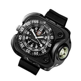 SureFire 2211 Rechargeable Variable Output WristLight with Luminox Watch, 300 Lumens, Anodized Body