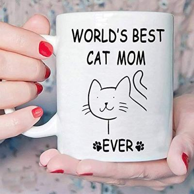 Funny Gifts Cat Coffee Mug for Mom – World's Best...