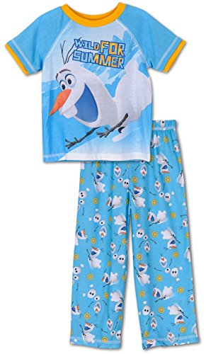 Disney Frozen Little Boys Layered Olaf Pajama Set, Toddler Sizes 2T-4T Blue