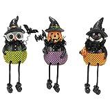 Witch Hat Shelf Sitter Black 6 x 3 Resin Stone Halloween Figurines Set of 3
