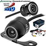 TOPTIERPRO Upgraded Backup Camera 170° Viewing Angle Multi-Function Car Reversing Front View/Side View/Rear View Camera & Security Pinhole Spy Camera (TTP-C12B)