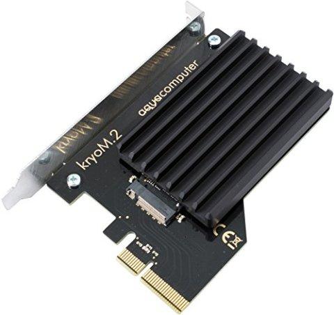 Aquacomputer kryoM.2 PCIe 3.0 x4 Adapter for M.2 NGFF PCIe SSD, M-Key with passive heatsink