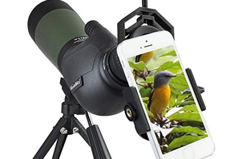 Gosky 20-60 X 80 Porro Prism Spotting Scope- Waterproof Scope for Bird watching Target Shooting Archery Range Outdoor