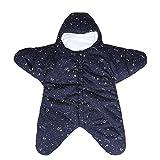 EsTong Baby Sleepsack Wearable Blanket Starfish Swaddling Sleeping Bag Nest Nightgowns Bunting Newborn Starry Blue