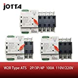 Jotta W2R-2P/3P/4P 100A 110V/220V Mini ATS Automatic Transfer Switch Electrical Selector Switches Dual Power Switch (3P 110V 110V)