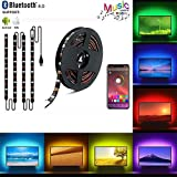 Tv Led Strip Lights, BAILONGJU Led Tv Backlight with App Control Sync to Music 6.5ft HDTV for 24-65 inch 5050 RGB Bias Lighting with Multi Color, Waterproof TV Lights, USB Powered