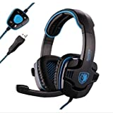 Sades Stereo 7.1 Surround Pro USB Gaming Headset with Mic...