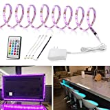 LED Strip Light 9.8ft, TV Bias Lighting for 49 to 70 inch HDTV, Multicolor Light Strip with Remote and 12V Adapter, RGB Backlight for Under Cabinet,Shelf,Kitchen,Home Theater, 3 Meter Color Changing