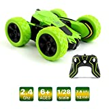 Stunt RC Car Toy, MiluoTech Remote Controlled Vehicles Car Double Sided Rotating Tumbling Ransformation 360 Degree Flips (Green)