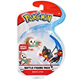 Pokemon 2 Inch Battle Action Figure  2-Pack, includes 2' Rowlet and 2' Litten