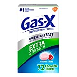 Gas-X Extra strength cherry Chewable Tablet for Fast Gas Relief, 72Count