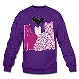 Spreadshirt Miranda Sings Merch Favorite Cats Crewneck Sweatshirt, L, Purple