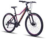 "Upland X100, 27.5"" 15.5"" Hardtail Mountain Bike for Lady (Black/Red)"