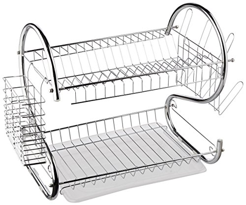 Better Chef DR-16, 16-Inch, Chrome Plated, S-Shaped, Rust-Resistant, 2-Tier Dishrack