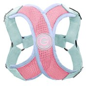 Gooby-Perfect-Fit-X-Harness-Small-Dog-Choke-Free-Step-In-Harness-with-Synthetic-Lambskin-Soft-Strap-Pink-Medium