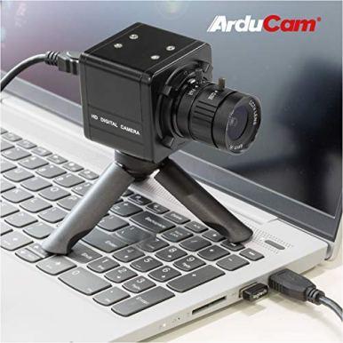 Arducam-4K-USB-Camera-Bundle-12MP-IMX477-HQ-Webcam-with-Audio-6mm-CS-Mount-Lens-Metal-Enclosure-Tripod-and-USB-Cable