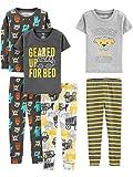 Simple Joys by Carter's Boys' Toddler 6-Piece Snug Fit Cotton Pajama Set, Construction, 2T