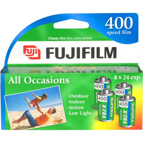 Fujifilm Genuine Superia X-TRA ISO 400 35mm Color Film – 24 Exposures, 4 Pack