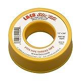 LA-CO 44094 Slic-Tite PTFE Gas Line Pipe Thread Tape, Premium Grade, [260' Length, 1/2' Wide], Yellow