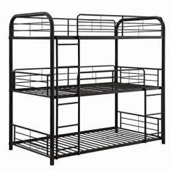 ACME Furniture Cairo Triple Bunk Bed, Twin, Sandy Black