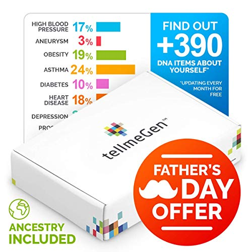 TellmeGen - Health & Ancestry DNA Test Kit - The Most Complete Genetic Testing for Home: 390+ Online Reports: Inherited Genetic Disorders + Complex Diseases - Ethnicity - Personal Traits & More