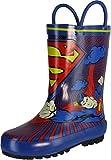 DC Comics Superman Rain Boot (Toddler/Little Kid),Blue/Red/Yellow,7 M US Toddler