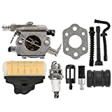 Hilom WT-286 Carburetor Carb with Air Fuel Filter Tune Up Kit for STIHL 021 023 025 MS210 MS230 MS250 MS 250 Chainsaw Replace Zama C1Q-S11E C1Q-S11G