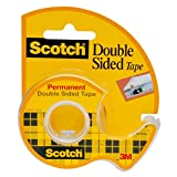 Scotch Double Sided Tape, Standard Width, 3/4 x 300 Inches, Boxed, 1 Roll (237)