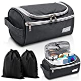 Travel Toiletry Bag – Small Portable Hanging Cosmetic Organizer for Men & Women   Makeup, Toiletries, Hygiene Accessories, Shaving Kit, Clippers & Grooming Tools   Waterproof   Bathroom, Shower, Gym