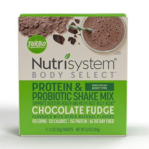 Nutrisystem® Body Select™ Chocolate Fudge Protein & Probiotic Shakes, 20ct, Delicious Shakes that Bust Belly Bloat* and Support Digestion 1
