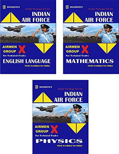 INDIAN AIRFORCE BOOKS || INDIAN AIR FORCE X GROUP BOOKS | INDIAN AIR FORCE EXAM STUDY KIT | NEW EDITION (2020-2021)