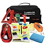 STDY Auto Emergency Kit, Car Roadside Assistance Emergency Kit 57-in-1 Car Safety Kit+Tow Rope,Jumper Cables, Tire Pressure Gauge,Triangle etc,Great for Car,Truck Or SUV Multifunctional Assistance