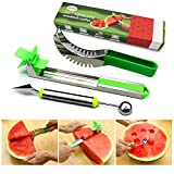 Morlike Watermelon Windmill Cutter - Stainless Steel Watermelon Slicer, Carver, Cutter, Knife - Carving and Cutting Tools for Home 3 PACK
