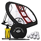 Golf Chipping Net For Indoor/Outdoor Use - Collapsible Golfing Target with 12 Foam Balls - Portable Training Aid to Practice in Backyard or Office - Swing Game - Improve Accuracy and Challenge Friends