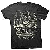 50th Birthday Gift Shirt - Living Legend 1969 Legends Never Die - Black-XL