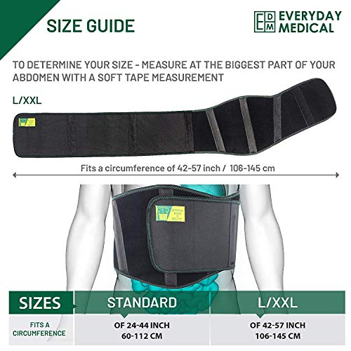 Ergonomic Umbilical Hernia Belt – Abdominal Binder for Hernia Support – Umbilical Navel Hernia Strap with Compression Pad – Ventral Hernia Support for Men and Women – Large/XXL Plus Size (42-57 in) deal 50% off 51vK  QgZML