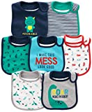 Simple Joys by Carter's Baby Boy's 7-Pack Teething Bib, Blue, One Size