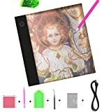 Diamond Painting A5 LED Light Pad Board Tablet Portable Dimmable Brightness, LED Artcraft Tracing Light Pad Light Box for Artists Student Drawing, Must Have for Paint with Diamonds