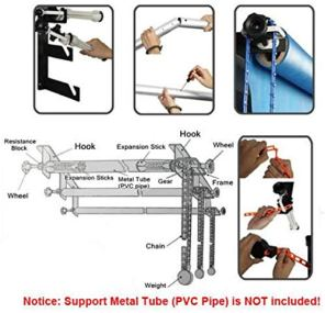 Fotoconic-3-Roller-Wall-Mounting-Manual-Background-Support-System-Including-Two2-Tri-fold-Hooks-Six6-Expand-Bars-Three3-Chains