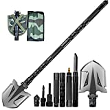 ANTARCTICA Military Folding Shovel Multitool Compact Backpacking Tactical Entrenching Tool for Hunting, Camping, Hiking, Fishing (Black)