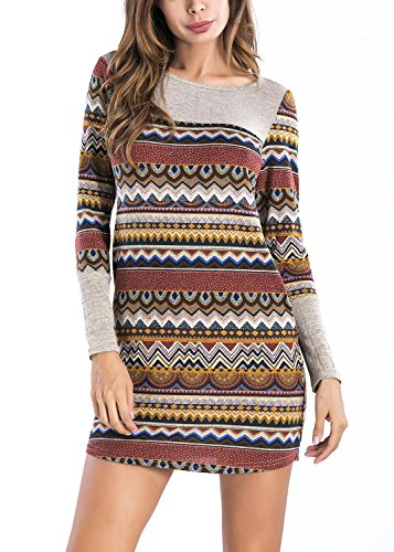 51vSSStBNeL Material: 95% Rayon, 5% Spandex Long sleeve round neck bodycon stripe knit mini sweater dress with pockets Features striped pattern ,slim fit and soft, stretchy material