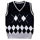 Product review for Baby Boys Toddler V-Neck Argyle Knit thicken Students Sweater Vest