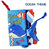 beiens Ocean Theme My Quiet Books - Soft Activity Books for Baby /Toddler Learning Story Book Life Education, Learning to Sensory Book & Identify Skill Boys and Girls, Baby Book , Cloth Book
