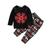 Product review for Baby Girls Christmas Snowflake Print Long Sleeve Sweatshirt Pants Set