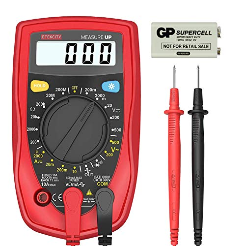 Etekcity Digital Multimeter, Amp Volt Ohm Voltage Tester Meter with Diode and Continuity Test, Dual Fused for Anti-Burn, MSR-R500