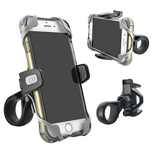 Phone Holder for Bicycle and Motorcycle, Tackform Freedom Bicycle Phone Mount, Fits Any Smartphone, Holds iPhone 7, 7 Plus, SE, iPhone 6s, iPhone 6 Plus