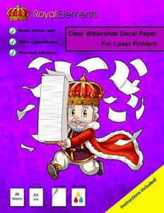 Royal Elements Clear Waterslide Decal Papers